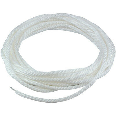 """5/16"""" White Flagpole Halyard Rope with Cable Core Stainless Steel 50' USA Made"""