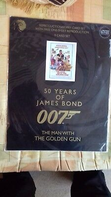 """James Bond """"the Man With The Golden Gun """"  9 Card Set Of Lobby Cards-New."""
