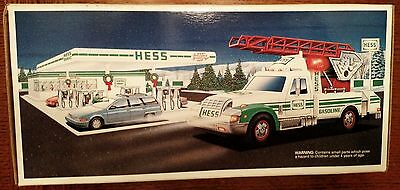 1994 Hess Rescue Truck - NRFB - with Gas Coupon, Smoke Home, Free Shipping