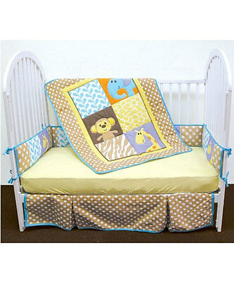 "Luvable Friends ""Safari Time"" 4-Piece Baby Bedding Set"