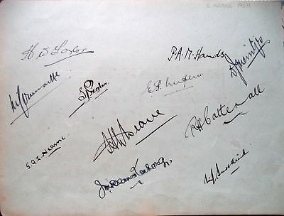 South Africa To England 1924 - Cricket Autograph Album Page Inc Blanckenberg