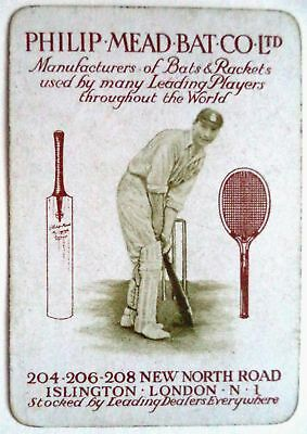 PHILIP MEAD HAMPSHIRE – ORIGINAL 1920's ADVERTISING CRICKET PLAYING CARD
