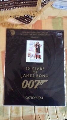 """James Bond """"octopussy""""  9 Card Set Of Lobby Cards-New."""