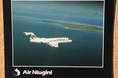 AK Airliner Postcard AIR NIUGINI  Fokker F28 airline issue XL-size