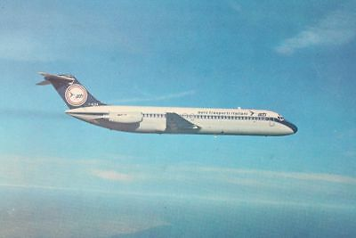 AK Airliner Postcard ATI DC-9 airline issue longer size