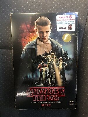 Stranger Things Season 1 Target Exclusive 4 Disc Blu-Ray DVD Region A Only New