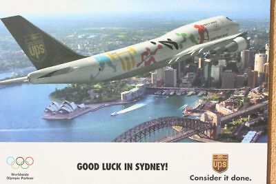 AK Airliner Postcard UPS B.747 Sydney airline issue XL-size