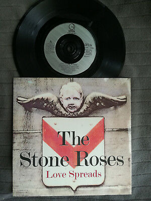 """THE STONE ROSES Love Spreads UK Geffen 7"""" picture sleeve vinyl record"""