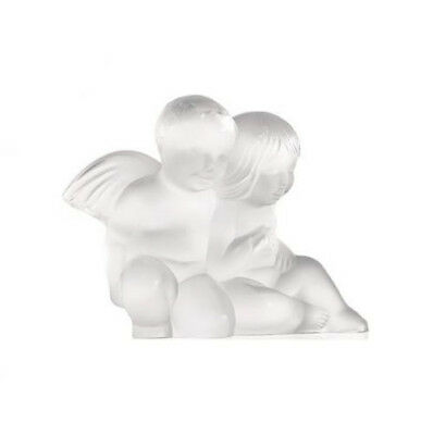 GENUINE LALIQUE CLEAR CRYSTAL Twin Angels 1209300 Free Delivery