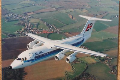 AK Airliner Postcard AIR UK BAe-146 airline issue XL-size