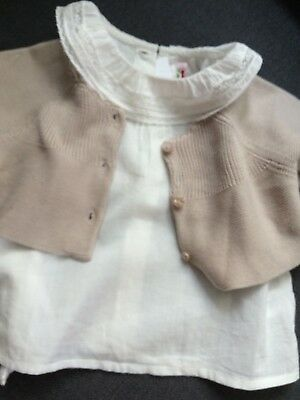 Bonpoint Style French Boutique DP..am Bebe Baby Sweater NWOT
