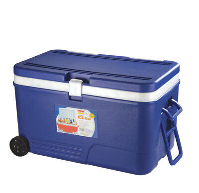 Large 60 Litre Cooler Box on Wheels Camping Beach Lunch Picnic Insulated Food