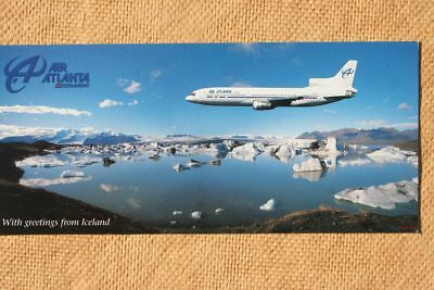 AK Airliner Postcard AIR ATLANTA TriStar  airline issue longer size