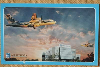 AK Airliner Postcard AIR BOTSWANA  ATR-42 airline issue XL-size