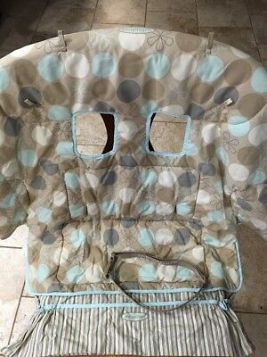 Infantino Baby Shopping Cart Seat Cover Boy Girl Tan Blue
