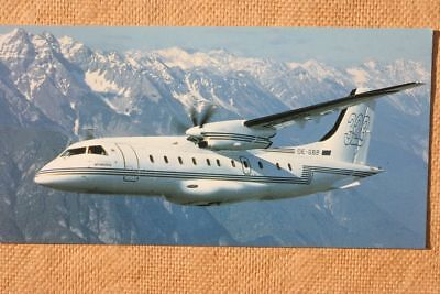 AK Airliner Postcard TYROLEAN JET SERVICE DO-328  airline issue longer size