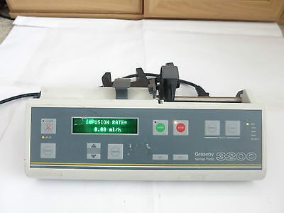 Graseby 3200 In-Line Pressure Syringe Iv Infusion Pump Driver Administration Uk