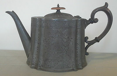 Lovely antique pewter teapot, antique, pewter