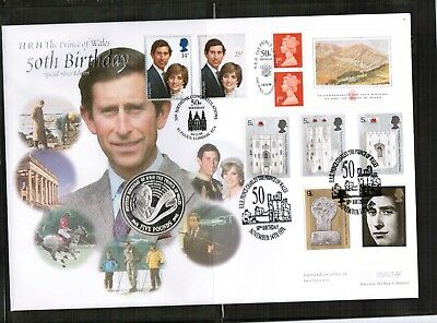 GB 1998 Prince Charles £5 Silver Coin Cover