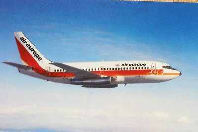 AK Airliner Postcard AIR EUROPE B.737 airline issue