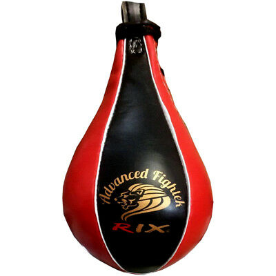 Rix Pro Leather Speedball Boxing MMA Punch Bag Small Size 2 Punching Speed Ball