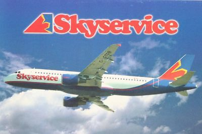 AK Airliner Postcard SKYSERVICE A320 airline issue