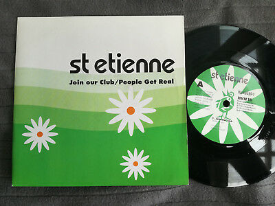 """SAINT ETIENNE Join Our Club UK Heavenly 7"""" picture sleeve vinyl record"""