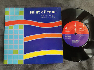 """SAINT ETIENNE You're In A Bad Way UK Heavenly 7"""" picture sleeve vinyl record"""