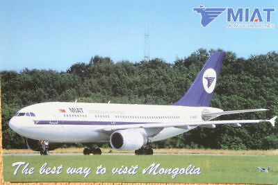 AK Airliner Postcard MIAT A310 airline issue