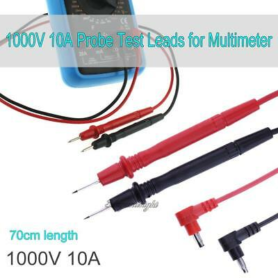 1 Pair Universal 1000V 10A Probe Test Leads for Multimeter Meter 70cm Cable Test