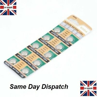 AG10 X 10pcs  GP189 SR54 LR1130 L1131 1.5V Alkaline Button Cell Battery soda UK