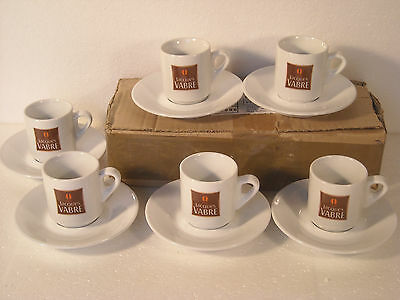 LOT 6 TASSES + 6 SOUCOUPES * CAFE EXPRESSO * JACQUES VABRE * Bistrot, Bar * NEUF