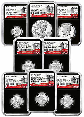 8-Coin 2017-S Limited Edition Silver PF Set NGC PF70 UC FR Black 225th SKU50135