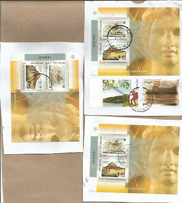 DM156 Greece Griechenland 2006 Miniature sheets X3 on paper used