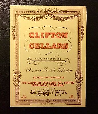 Clifton Cellars Scotch Whisky label