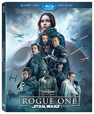 Rogue One: A Star Wars Story Blu-ray/DVD, 2017, 3-Disc Set comes with Slipcover