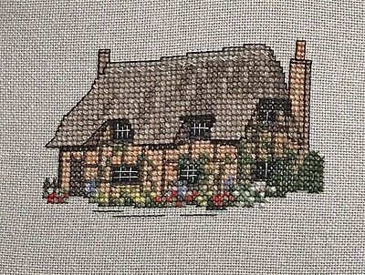 Completed Cross Stitch Picture - Companions - Hampshire Cottage