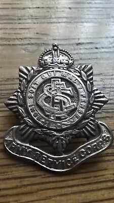 WW1 Silver Sweetheart Badge ASC (Army Service Corps)