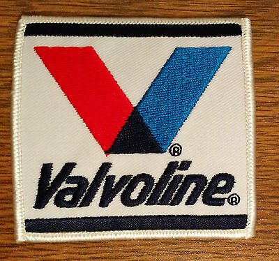 VALVOLINE Motor Oil Embroidered Iron On Uniform Jacket Patch 3""
