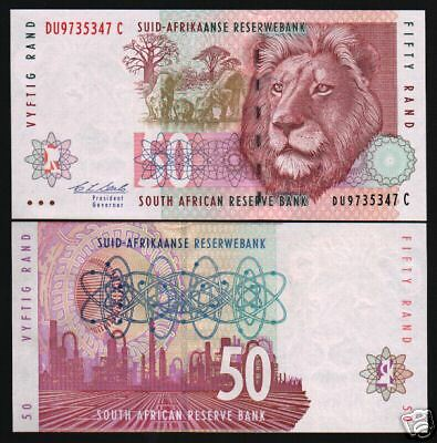 South Africa 50 Rand P125B 1992 Lion Oil Refinery Unc African Bank Note