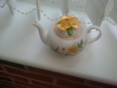"""Royale Stratford The Country Cottage Teapot Selection """"meadow Buttercups"""" Design"""