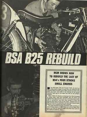 Rare Bsa C15 B40 B25 C25 Triumph Tr25 Unit Single Photo Illus. Rebuild 250 350