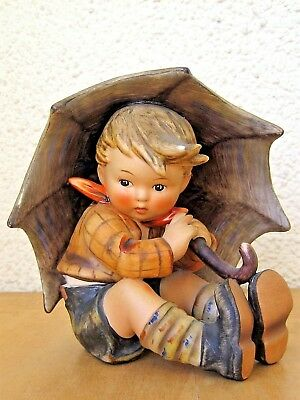 Hum #152/0 A Umbrella Boy Tm4 Goebel M.i. Hummel Figurine Germany Mint C342