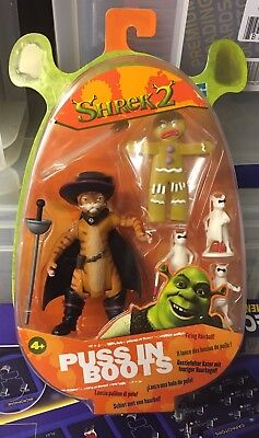 MINMB SHREK 2 Puss in Boots Blind Mice Gingerbread Man  Figures Hasbro Sealed