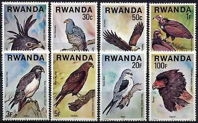 Rwanda 1977 SG#833-840 Birds Of Prey MNH Set #D58761