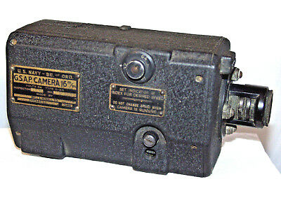 U.S. Navy Bell & Howell GSAP 16mm Type N-4A Military Camera.