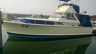 1968 Chris Craft Commander 38FT Express w/Flybridge, Swim Platform, Twin 427 V8