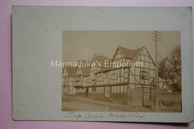 Worcestershire : Ombersley, Kings Arms - Early Real Photo Original Postcard