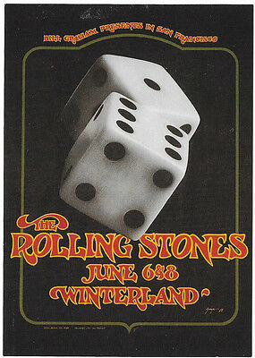 Wolfgang's Vault BG289 – THE ROLLING STONES - Tumbling Dice PROMO Postcard NR