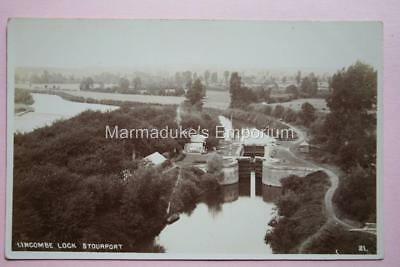Worcestershire : Lincombe Lock, Stourport - Super Original Real Photo Postcard